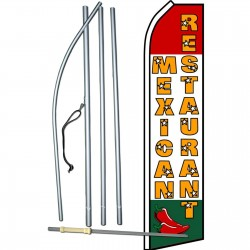 Mexican Restaurant Chiles Swooper Flag Bundle