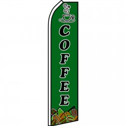 Coffee Green Swooper Flag