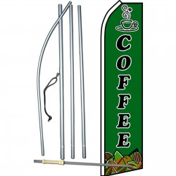 Coffee Green Swooper Flag Bundle