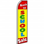 Back To School Sale Swooper Flag