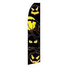 Halloween Eyes Swooper Flag