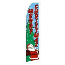 Merry Christmas Swooper Flag