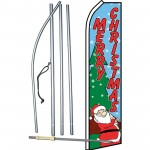 Merry Christmas Santa Swooper Flag Bundle