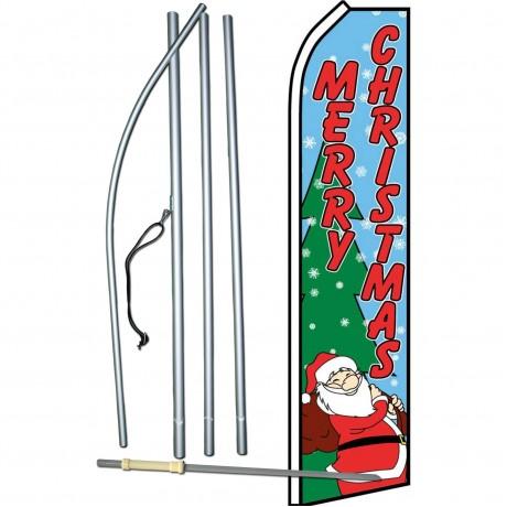 Merry Christmas Santa Swooper Flag Bundle