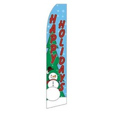 Happy Holidays Snowman Swooper Flag