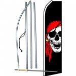 Pirate Jolly Roger Swooper Flag Bundle