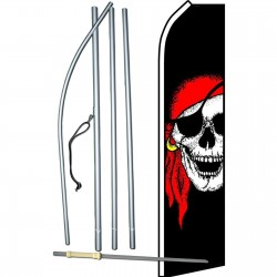 Pirate Jolly Roger Swooper Flag Bundle