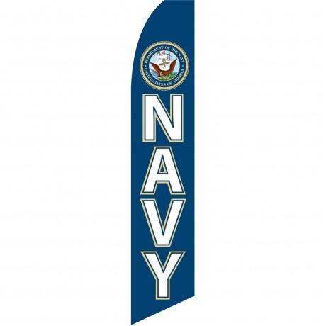 Navy Military Swooper Flag