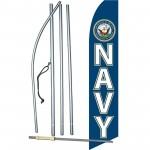 Navy Military Swooper Flag Bundle