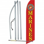 Marines Military Swooper Flag Bundle