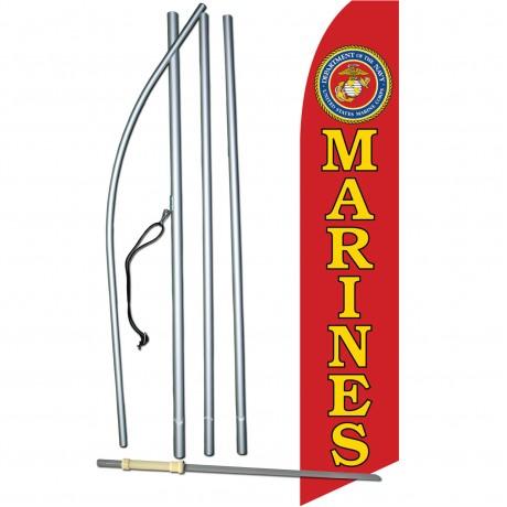 Marines Military Swooper Flag Bundle