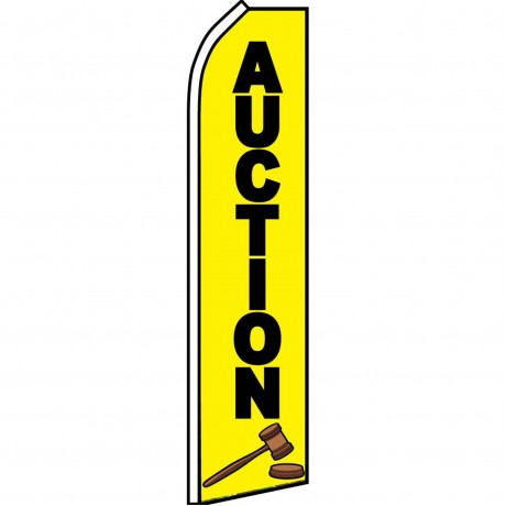 Auction Yellow Swooper Flag