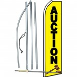 Auction Yellow Swooper Flag Bundle