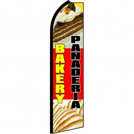 Bakery Panderia Extra Wide Swooper Flag