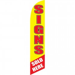 Signs Sold Here Windless Swooper Flag