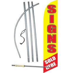 Signs Sold Here Windless Swooper Flag Bundle