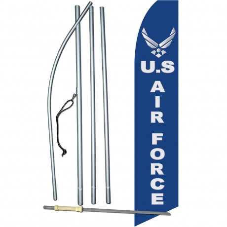Air Force Military Swooper Flag Bundle