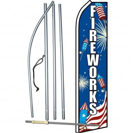 Fireworks USA Swooper Flag Bundle
