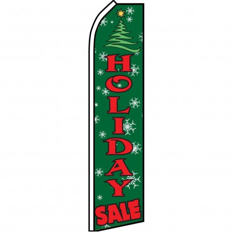 Holiday Sale Green Swooper Flag
