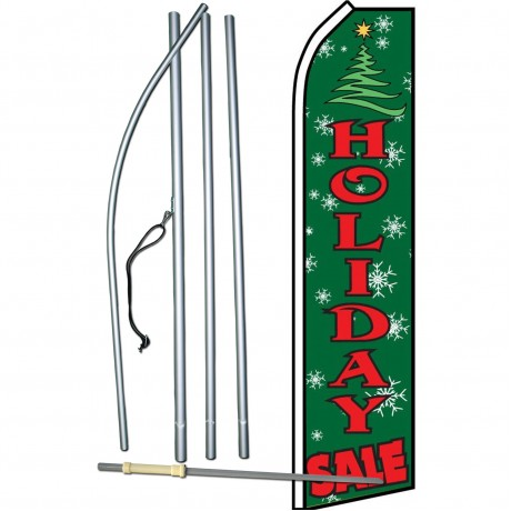 Holiday Sale Green Swooper Flag Bundle
