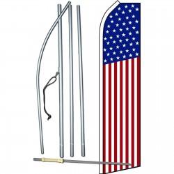 USA 50 Star Swooper Flag Bundle