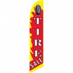 Tire Sale Flame Windless Swooper Flag
