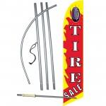 Tire Sale Flame Windless Swooper Flag Bundle