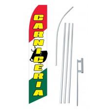 Carniceria (Meat Shop) Swooper Flag Bundle