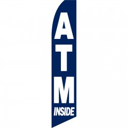 ATM Inside Blue Swooper Flag
