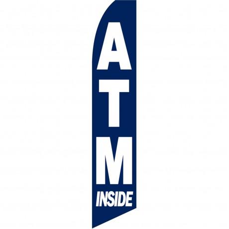 ATM Inside Blue Swooper Flag