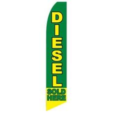 Diesel Sold Here Swooper Flag