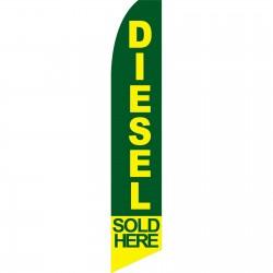 Diesel Sold Here Green Swooper Flag