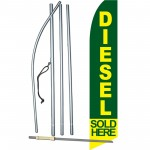 Diesel Sold Here Green Swooper Flag Bundle