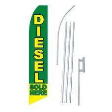 Diesel Sold Here Swooper Flag Bundle