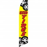 Used Tires Yellow Swooper Flag