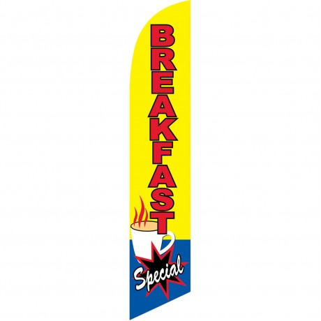 Breakfast Special Yellow Windless Swooper Flag