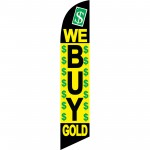 We Buy Gold Windless Swooper Flag