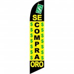 Se Compro Oro Yellow Windless Swooper Flag