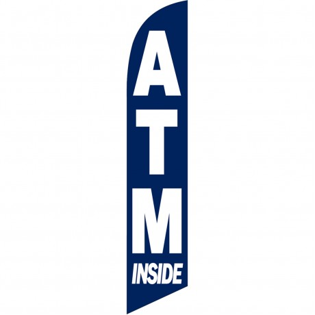 ATM Inside Blue Windless Swooper Flag
