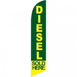 Diesel Sold Here Green Windless Swooper Flag