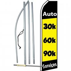 30K 60K 90K Auto Services Yellow Swooper Flag Bundle