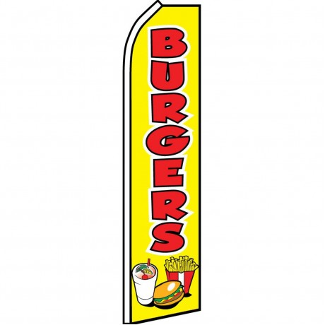 Burgers Meal Yellow Swooper Flag