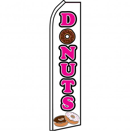 Donuts White Swooper Flag