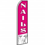 Nails Pink Lady Swooper Flag