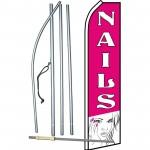 Nails Pink Lady Swooper Flag Bundle