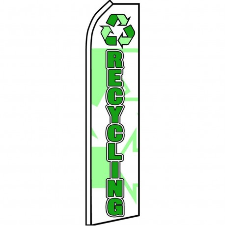 Recycling White Swooper Flag