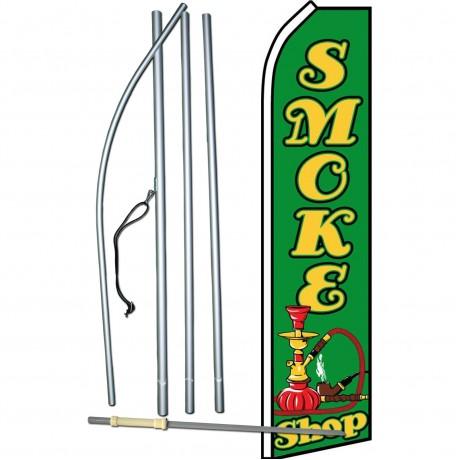 Smoke Shop Green Swooper Flag Bundle