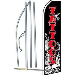 Tattoos Skull Swooper Flag Bundle