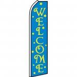 Welcome Stars Swooper Flag