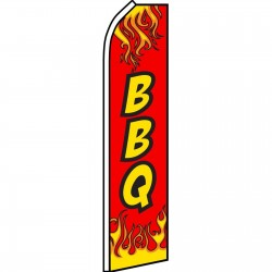 BBQ Red Flames Swooper Flag